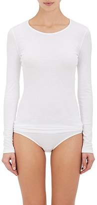 Hanro Women's Sea Island Cotton Long-Sleeve T-Shirt - White