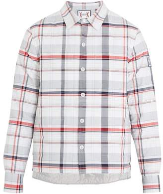 Moncler Gamme Bleu Check Quilted Down Shirt - Mens - Multi