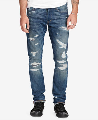 Denim & Supply Ralph Lauren Men's Prospect Slim Ripped Jeans $185 thestylecure.com