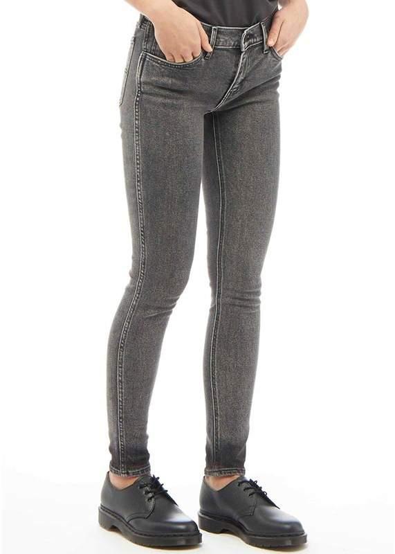Damen L8 Mid Skinny Jeans Grau