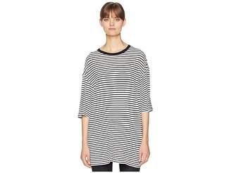 R 13 Oversized Striped Boyfriend T-Shirt