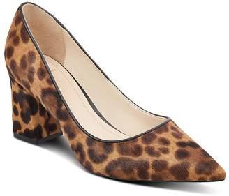 98b418624eed Marc Fisher Women s Zalaly Leopard Print Calf Hair Pumps