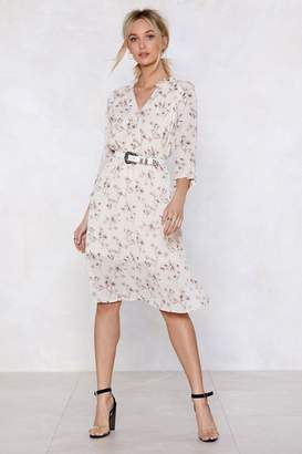 Nasty Gal Flower Me With Compliments Midi Dress