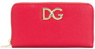 Dolce & Gabbana logo zip-around wallet