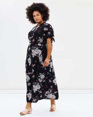 Evans Tie Sleeve Maxi Dress