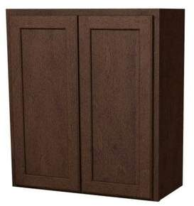 "Arbor Creek Cabinets St. Clair Double Butt Door 30"" W Wall Cabinet Arbor Creek Cabinets"
