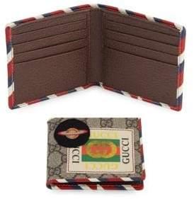 Gucci Men's GG Courier Bifold Wallet - Beige Multicolor
