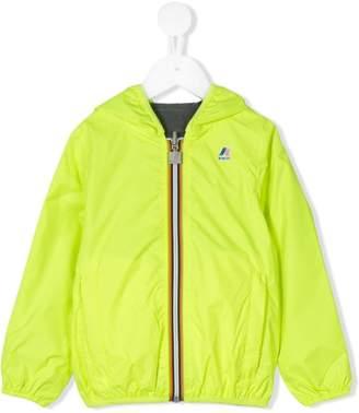 K Way Kids logo print hooded jacket