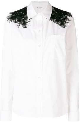 P.A.R.O.S.H. fringe detail shirt