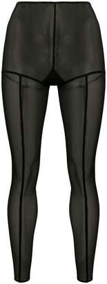 Ann Demeulemeester sheer contrast seam leggings