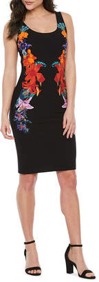 Bold Elements Sleeveless Floral Bodycon Dress