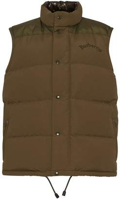 Burberry Embroidered Archive Logo Down-filled Gilet