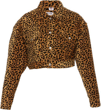 Leopard Cropped Jacket