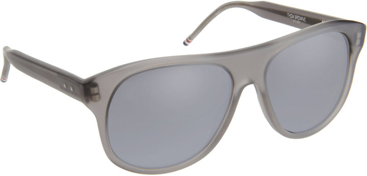 Thom Browne Large Rounded Aviator 55