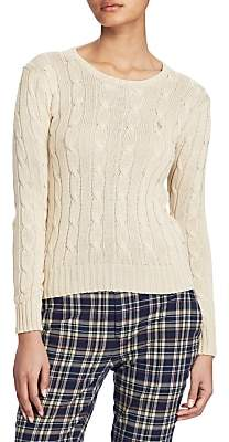 25bd754bd ... sweater womens. at John Lewis and Partners · Ralph Lauren Polo  Cable-Knit Cotton Jumper