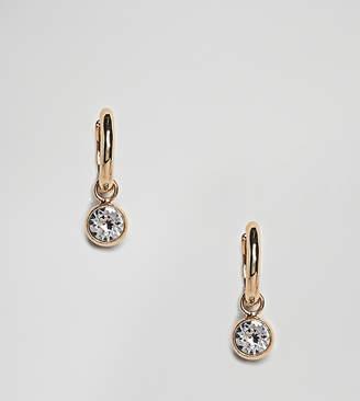 Accessorize (アクセサライズ) - Accessorize Swarovski gold hoop earrings with rhinestone detail