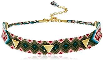 Rebecca Minkoff Triangle Stud Friendship Choker Necklace