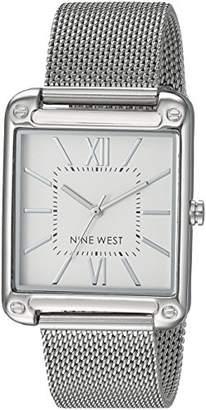Nine West Women's NW/2091SVSB -Tone Mesh Bracelet Watch