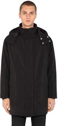 Prada Hooded Techno Fabric Down Jacket