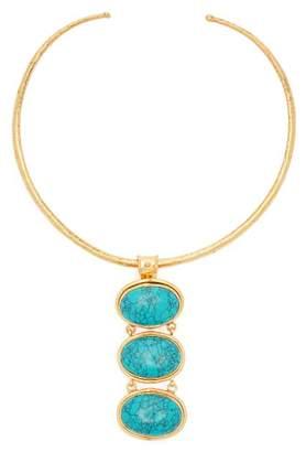 Sylvia Toledano - Turquoise Drop Choker - Womens - Blue