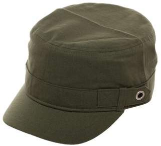 Time and Tru Women's Dark Green Cotton Cadet Cap with Button Details