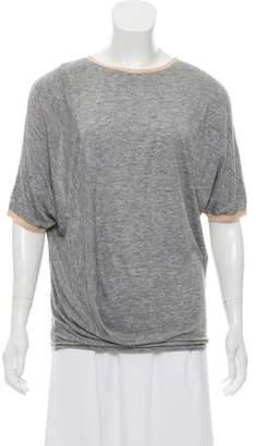 By Malene Birger Short Sleeve Scoop Neck T-Shirt