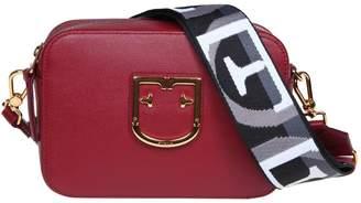Furla Shoulder Strap In Leather Bordeaux Color