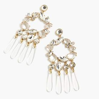J.Crew Crystal and resin chandelier earrings