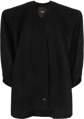 Montana single-breasted structured wool coat