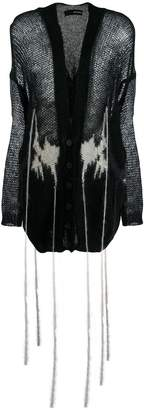 Isabel Benenato distressed style cardigan