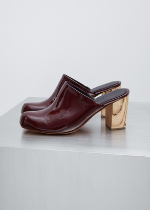 Rachel Comey rosewood patent leather asher $437 thestylecure.com