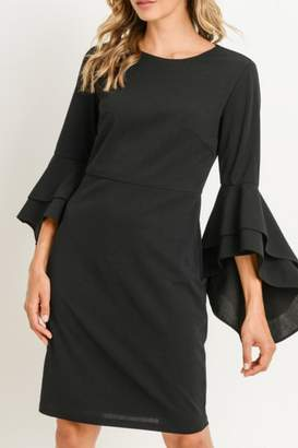 Gilli USA Ruffle Bell-Sleeve Dress