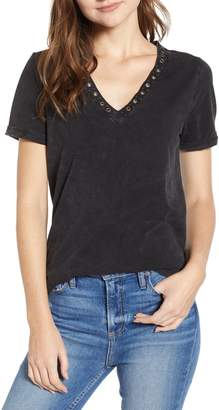 Paige Arielle Grommet Detail Stretch Cotton Tee