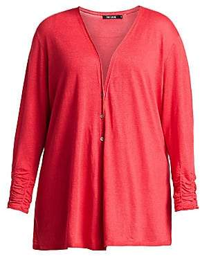 Nic+Zoe Plus Plus Women's Ruched Cardigan