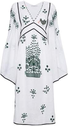DAY Birger et Mikkelsen Vita Kin Peacock Motif Linen Dress