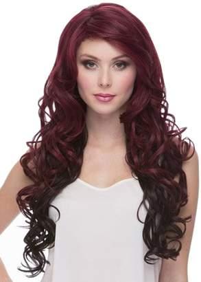 styling/ AmorWig Ombre Long Wavy Women Wig Burg Synthetic Fiber Hair Wig