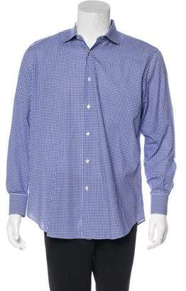 Pal Zileri Gingham Dress Shirt