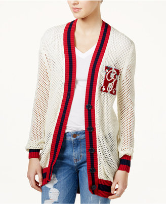 TOMMYXGIGI Patch Open-Knit Cardigan $199.50 thestylecure.com