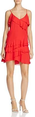 Parker Athens Ruffled Silk Dress $298 thestylecure.com
