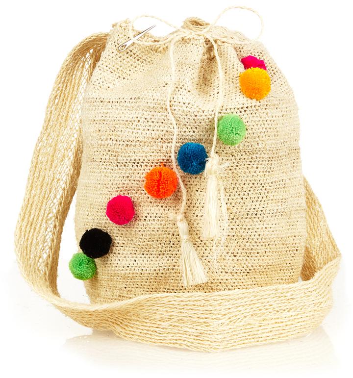 MUZUNGU SISTERS Fique Mochila pompom bag