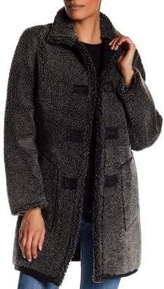 Blue Duck Reversible Genuine Shearling & Sheepskin Leather Jacket