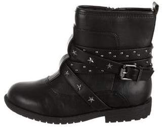 Flowers by Zoe Girls' Embellished Leather Boots