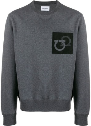 Salvatore Ferragamo Gancini patch sweater