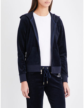 Juicy Couture Crystal-embellished velour hoody $179 thestylecure.com