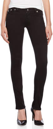 True Religion Black Crystal Flap Pocket Jeans