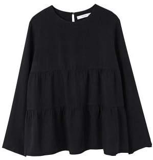 MANGO Ruffle soft fabric blouse