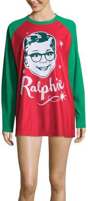 Asstd National Brand A Christmas Story Ralphie Family Pajama Nightshirt- Women's