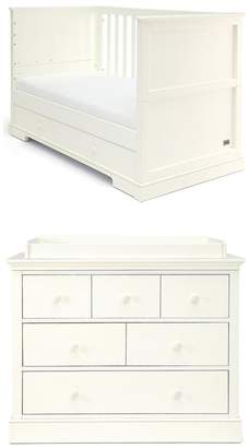 Mamas and Papas Oxford Cot Bed & Dresser Changer -White