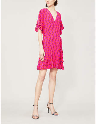 Kenzo Wavy Dots silk-crepe mini dress