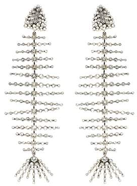 Saint Laurent Crystal clip-on earrings